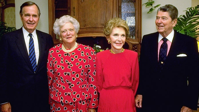 Barbara Bush thought Nancy Reagan kicked her and George H.W. Bush when they were down, book says
