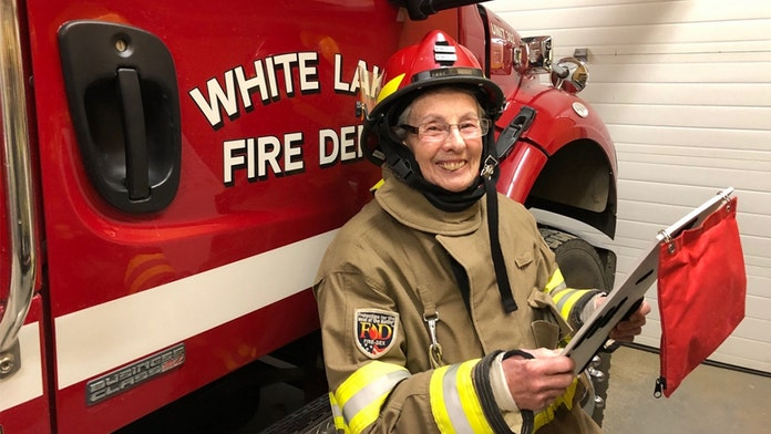 Canadian grandmother, 73, helps fight fires as a volunteer at local fire station