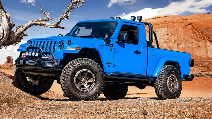 Jeep's 2-door pickups are ready to rock...crawl