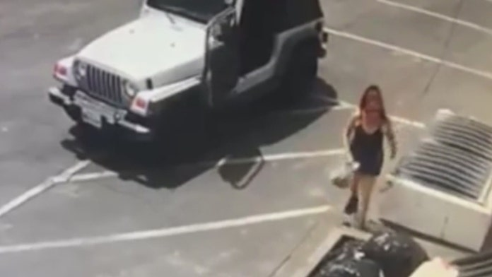 Woman caught on camera dumping puppies next to dumpster behind store in Coachella, California