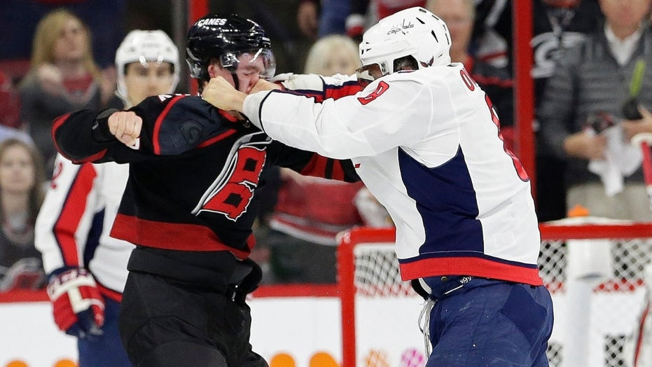 e6946c7a129 Capitals star Alex Ovechkin knocks out Hurricanes rookie Andrei ...