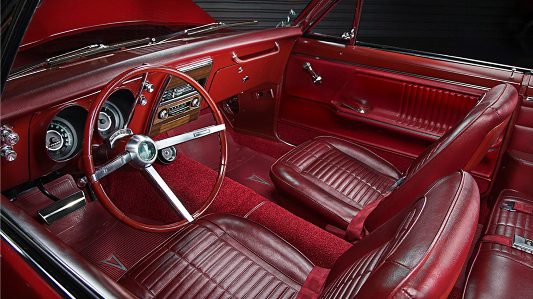Red 1967 Pontiac Firebird Convertible