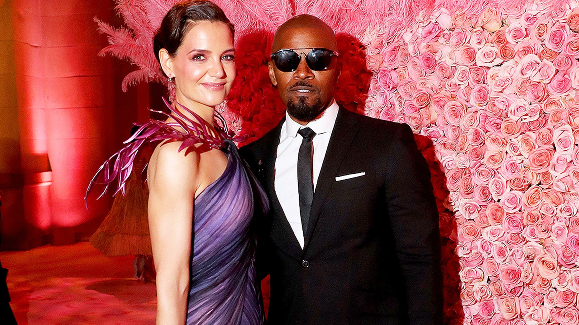 Katie Holmes and Jamie Foxx attend The 2019 Met Gala Celebrating Camp: Notes on Fashion at Metropolitan Museum of Art on May 6, 2019, in New York City.  (Getty)