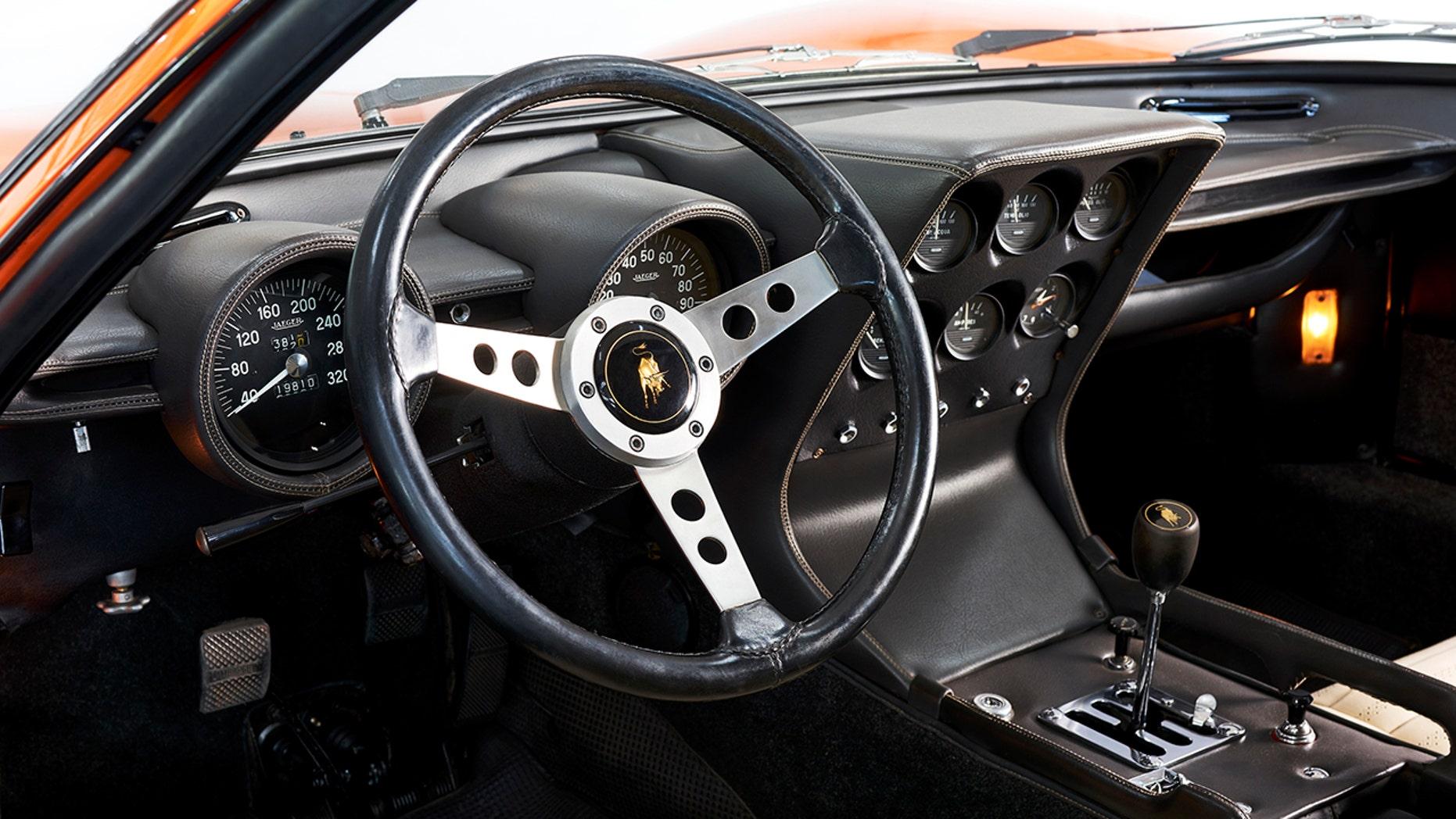 1969 Lamborghini Miura P400 interior