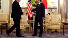 The Latest: Trump, Abe hold talks on North Korea, trade