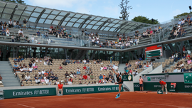 Tennis and tropical plants: New French Open court is wild