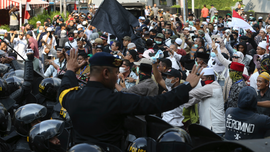 Protesters clash with Indonesian police after election loss