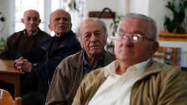 Aging voters in Greece keep traditional campaigning alive