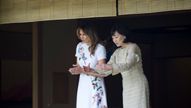 Melania Trump enjoys nature-themed Japan cultural experience
