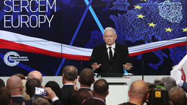Poland's ruling right-wing party tops the polls