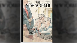 The New Yorker's June issue shows AG Barr, McConnell, Graham 'shining' Trump's shoes