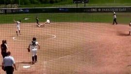 Indiana college softball team pulls off stunning hidden-ball trick to advance to World Series