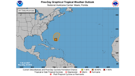 Tropical cyclone may develop in Atlantic this week southwest of Bermuda, forecasters say