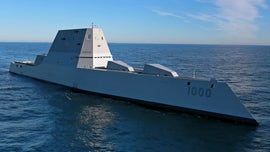 Navy tests new sleek, stealthy destroyer hull in rough seas