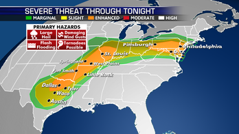 Severe storms to once again develop across Plains, Mid-Atlantic