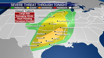 Multi-day severe storm and heavy rain threat continues across Southern Plains