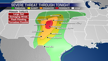 Severe weather threat continues across the Plains