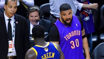 VIDEO: Drake appears to call Warriors 'trash' after Game 1 loss to Raptors