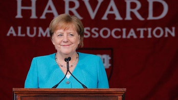 Merkel uses Harvard commencement speech to swipe at Trump