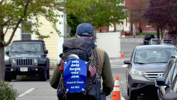 71-year-old man undertakes cross-country walk for veterans