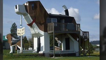 Idaho's giant beagle statues double as hotel, chainsaw art gallery