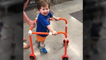 Home Depot employees in Georgia build walker for boy, 2, with hypotonia