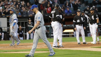 Chicago White Sox's Tim Anderson gets hit in head by Kansas City Royals pitcher as rivalry grows