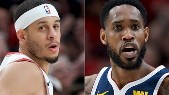 Trail Blazers' Seth Curry gets into shoving match with Nuggets' Will Barton during Game 6