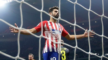 Atletico Madrid star Diego Costa suffers ankle injury after slide tackle