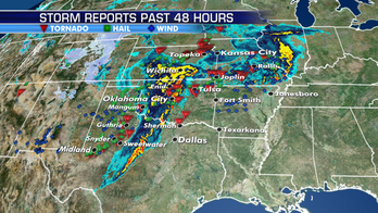 Stalled boundary from Plains to Ohio River Valley to bring strong storms