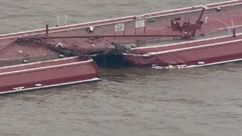 Barge and tanker collide, leaking gas product into the Houston Channel