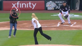 Chicago White Sox staffer throws worst (or maybe best) first pitch ever