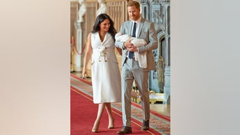 Meghan Markle wears dress by rising British designer to introduce royal baby