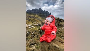 5-month-old is Scotland's youngest mountaineer, which her mom claims helps development