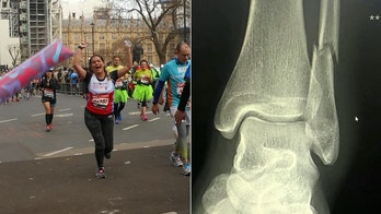 Woman runs 18 miles of London Marathon on broken ankle