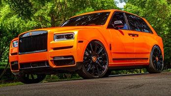 Cleveland Brown Odell Beckham Jr. showing his team spirit with custom orange Rolls-Royce
