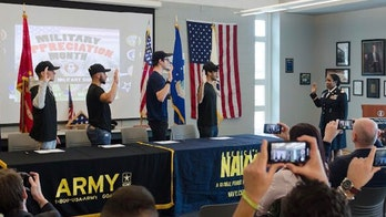 High schools across US hosting 'military signing days'