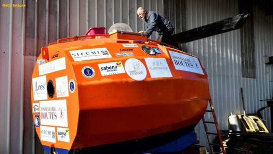 French adventurer, 72, completes his trip across the Atlantic in a barrel