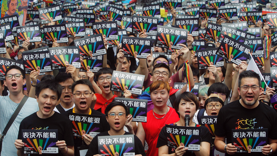 Taiwan becomes first in Asia to legalize same-sex marriage