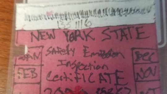 New York man busted with hand-drawn 'state inspection sticker'