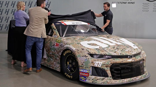 Jimmie Johnson's camouflaged Camaro salutes fallen soldier
