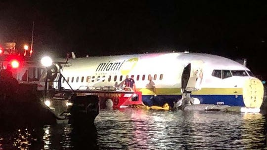 Boeing 737 from Gitmo goes off runway into river in Jacksonville, Fla.