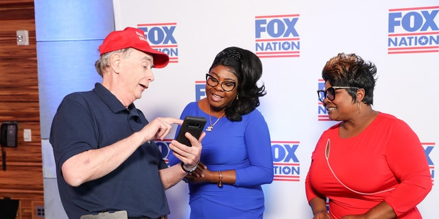 Diamond and Silk met and took photos with some of their fans at the Fox Nation summit.