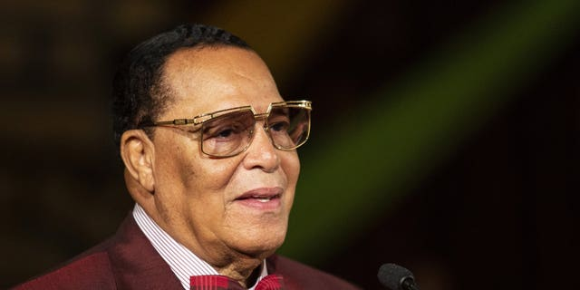Minister Louis Farrakhan, of the Nation of Islam, speaks at Saint Sabina Church in Chicago on Thursday night. (Associated Press)