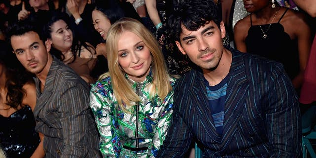 Sophie Turner and Joe Jonas attend the 2019 Billboard Music Awards at MGM Grand Garden Arena on May 1, 2019 in Las Vegas. They tied the knot after the show.