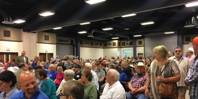 Hundreds of people attended San Jacinto County's Commissioners Court meeting on Wednesday to oppose FFRF's demands to take down the crosses.