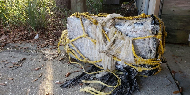 One of the packages that washed ashore a beach in Alabama.