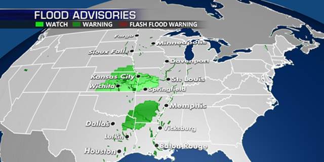 Map Of North Texas And Oklahoma.Severe Weather Threat Continues Across The Plains Fox News