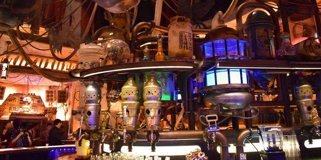 Oga's Cantina is the local hangout that serves both nonalcoholic drinks and alcoholic outer-worldly and on-planet cocktails. The family-friendly establishment has a droid, DJ Rex (who fans may recognize from Star Tours), who spins the music and provides local color.