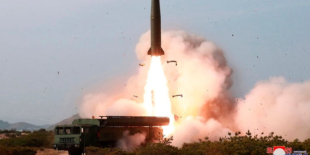 This Saturday, May 4, 2019, file photo provided by the North Korean government shows a test of weapon systems, in North Korea. (Korean Central News Agency/Korea News Service via AP, File)